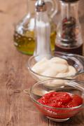 Set of seasoning and sauces - stock photo