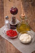 Set of seasoning and sauces Stock Photos