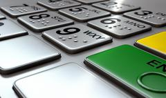 ATM Keypad Closeup Stock Illustration