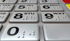 Stock Illustration of ATM Keypad Closeup