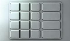 ATM Keypad Closeup Stock Illustration