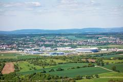 Rhein-Neckar Arena and Badewelt Sinsheim, Kraichgau Stock Photos