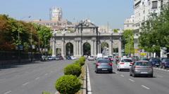 Puerta de Alcala in Madrid Stock Footage