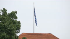 The Bavarian flag waving in Munich Stock Footage