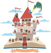 Fairy Tale Book - stock illustration