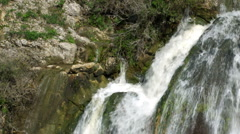 Video of top of Tahana Waterfall shot in Israel. - stock footage