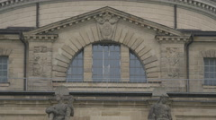 The Bavarian State Chancellery windows in Munich Stock Footage