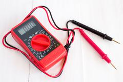 Stock Photo of Digital electrical multimeter