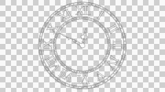 Crazy clock spinning fast in time - stock footage