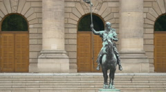 The equestrian statue of Otto von Wittelsbach in Munich Stock Footage