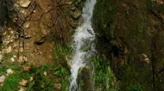 Stock Video Footage of Video of side and bottom of waterfall shot in Israel.
