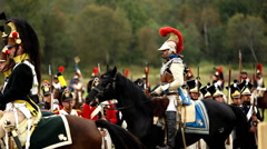 Reenactment of the battle of Borodino (the Patriotic war of 1812 year). Stock Footage