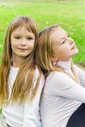Cute two girls Stock Photos