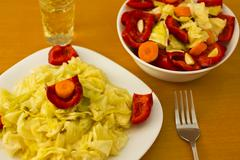 Salad with aperitif - stock photo