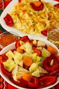 Salad with aperitif Stock Photos