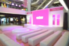 Abstract blur or defocus Background of Meeting or Event preparation. - stock photo