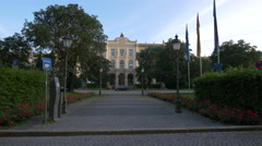 The Upper Bavaria Government building in Munich Stock Footage
