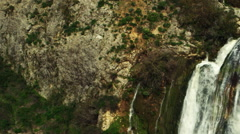 Video of Tahana Waterfall shot in Israel. - stock footage
