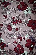 texture fabric of romantic flowers for background - stock photo