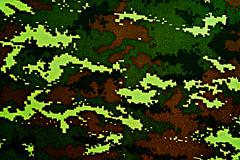 Thai police green tiger stripe camouflage fabric texture background - stock photo