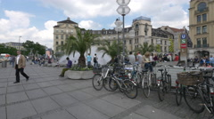 Afternoon in München Karlsplatz - stock footage