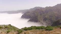 Aerial video footage from Madeira with a view over mountains Stock Footage