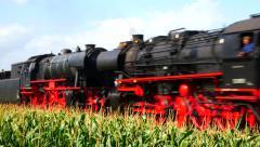 Steam train, Old steam locomotive - stock footage