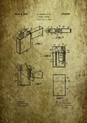 Lighter patent from 1934 Stock Photos