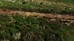 Video of Tahana Waterfall and surroundings shot in Israel. - stock footage