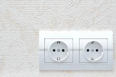 Electrical rosette Stock Photos