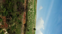 Video of Tahana Waterfall and surroundings shot in Israel. Stock Footage