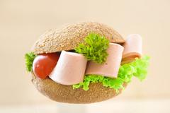 sandwich with brown bread - stock photo