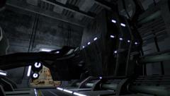 Animated spaceship in a futuristic corridor 4K Stock Footage