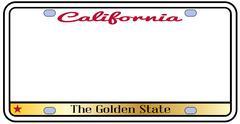 California License Plate - stock illustration