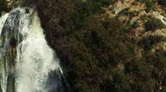 Video panorama of Tahana Waterfall shot in Israel. - stock footage