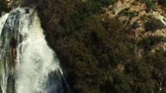Video panorama of Tahana Waterfall shot in Israel. Stock Footage