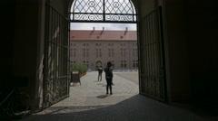 The interior courtyard of Munich Residenz in Munich Stock Footage