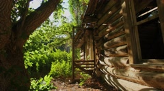 Abandoned cabin outside - stock footage