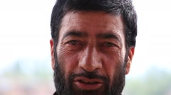 Portrait muslim man in Srinagar, Kashmir, India. Stock Footage