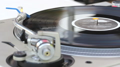 DJ turntable disc rotation - stock footage