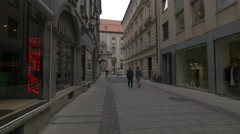 Replay store on Druckebergergasse in Munich Stock Footage