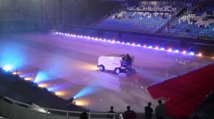 Stock Video Footage of Machine for ice alignment in Palace of winter sports Iceberg