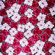 Texture fabric of romantic flowers for background Stock Photos