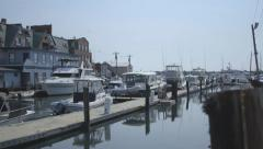 Marina in Portland, Maine Stock Footage