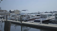 Boats in Marina in Portland, Maine - stock footage