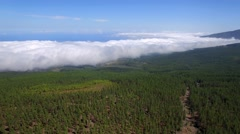 Aerial: above the clouds Stock Footage