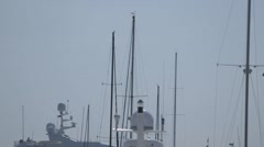 View of Masts Against Sky in Marina in Portland, Maine Stock Footage