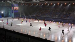 Show on ice rink of Averbukh in Palace of winter sports Iceberg Stock Footage