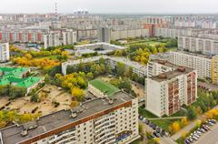 East residential district. Tyumen. Russia Stock Photos
