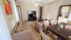 Living room in Apartment in Gorki Gorod in Sochi. Stock Footage